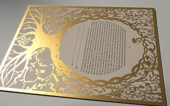Tree of Life 2018 version Papercut Ketubah