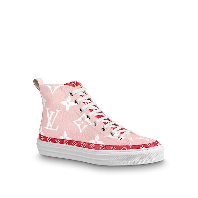 pink and red louis vuitton slippers