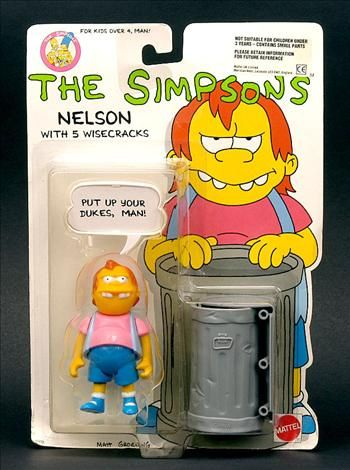 vintage the Simpsons toys | Mattel The Simpsons Nelson Figure Carded 1990