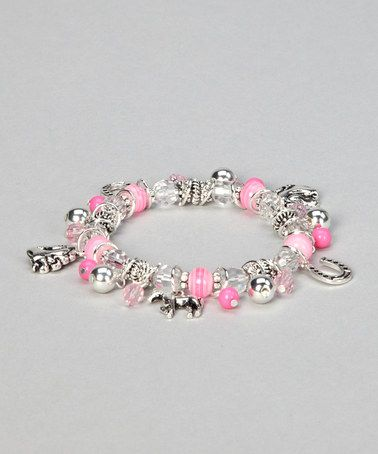 Take a look at this Pink Horse Charm Stretch Bracelet by AWST INTERNATIONAL on #zulily today!