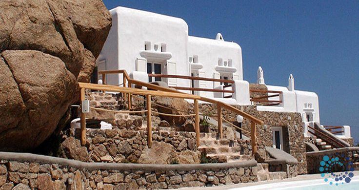 "Welcome to the ""Villa Kleio"" in Mykonos, Greece. Your #luxury #villa #rent #greece #greek #island #vacances #grece #mygreekvilla #alouer"