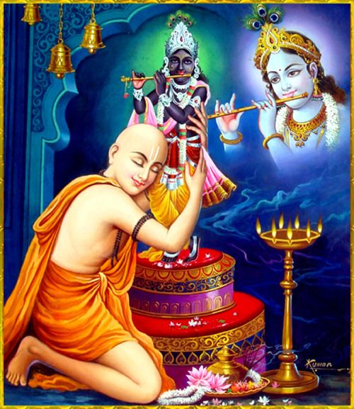 """☀ Shri Krishna Chaitanya Mahaprabhu ☀ """"The religious practice for the Age of Kali is to broadcast the glories of the holy name. Only for this purpose has the Lord, in a yellow color, descended as Lord Chaitanya. The luster of His expansive body..."""