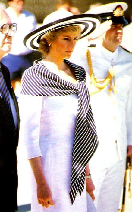 25th January, 1988. Prince Charles & Princess Diana arrive in Sydney, Australia for the Bicentenary.