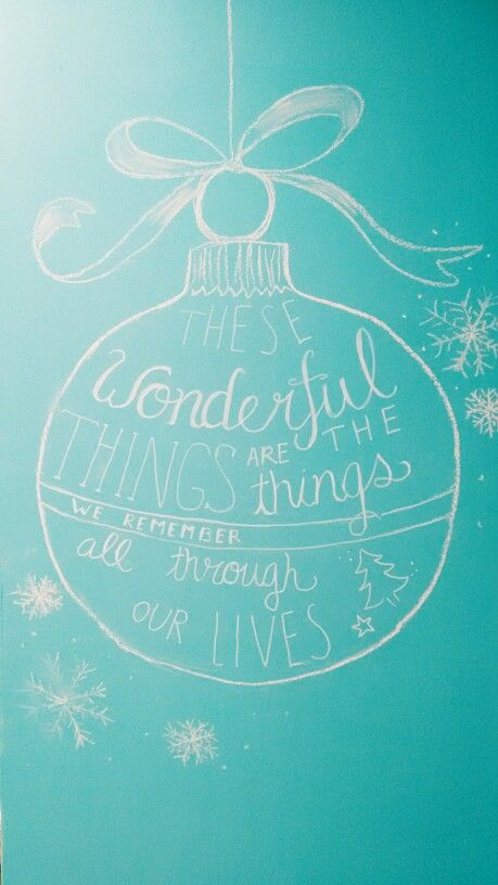 Wonderful handlettering by my mother, on our blue chalkboard for christmas, now it's time for a new one :D