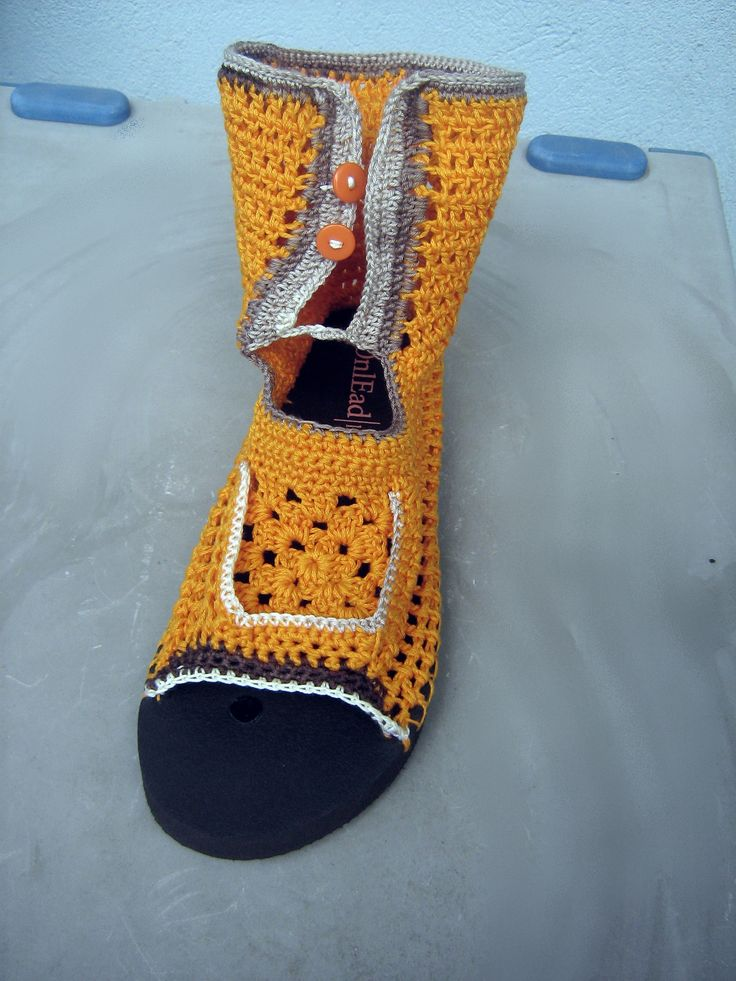 crochet summer booties