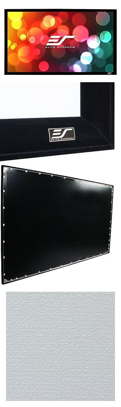 Projection Screens and Material: Nib Elite Screens 120 16:9 Fixed Frame Home Theater Projector Screen Er120wh1 -> BUY IT NOW ONLY: $349.99 on eBay!