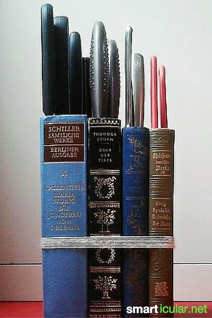 Messerblock aus alten Büchern upcyceln