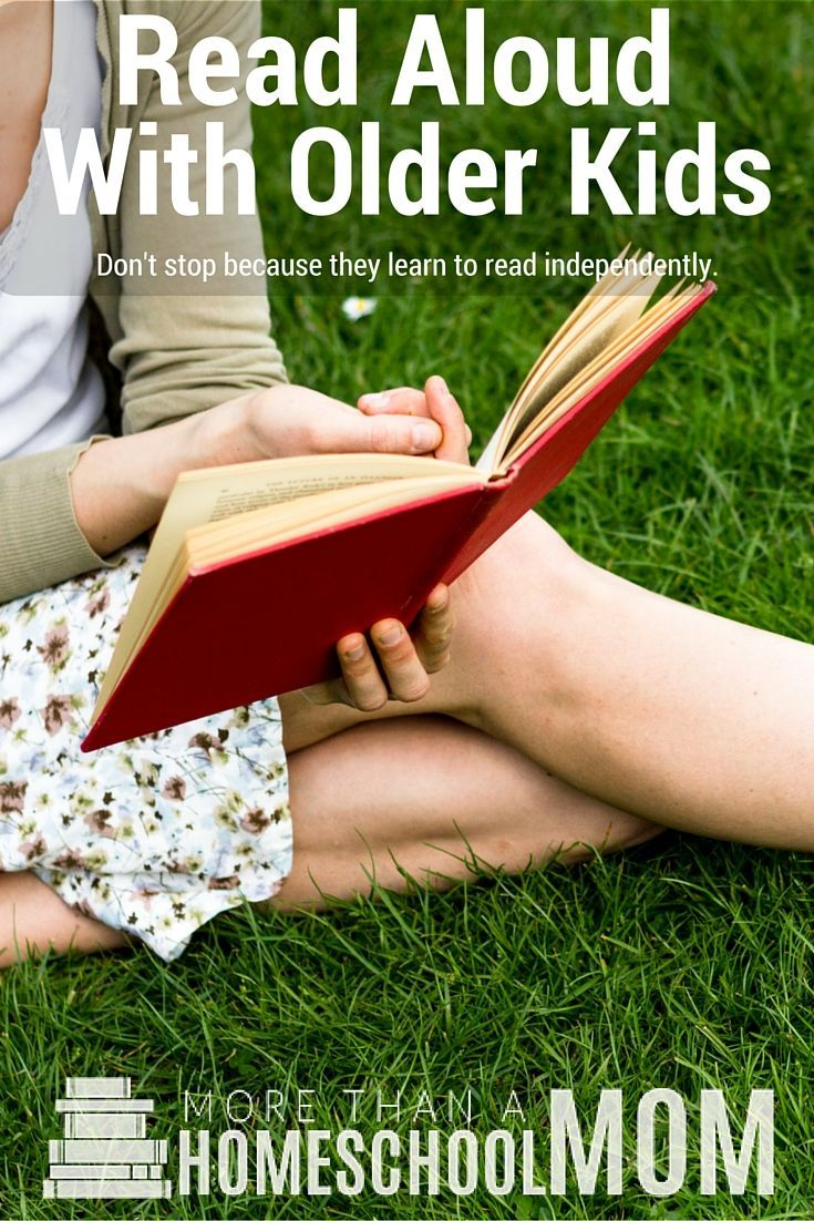 Should you read aloud with older kids? Not only should homeschool moms read aloud but all moms should read aloud to older kids. This post is filled with reasons why as well as tips for read aloud time.