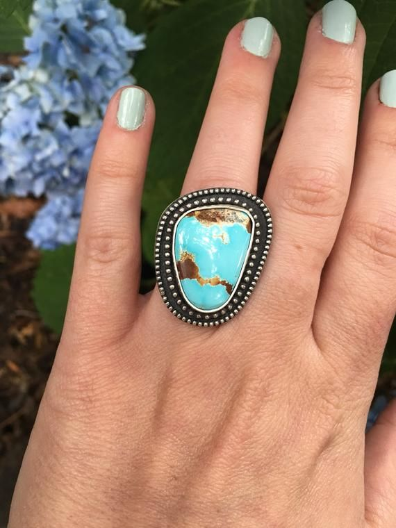 Sterling Silver Royston Turquoise Triple Stone Ring Size 6.5