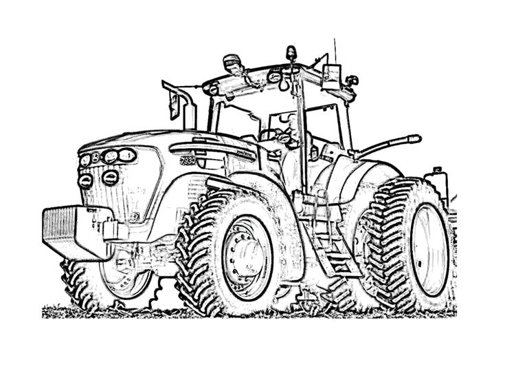 32 best tractors and construction images on pinterest | coloring ... - John Deere Combine Coloring Pages