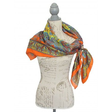 orange silk scarf