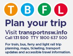 Transport for NSW | Plan a trip | Updates | What's happening in your local area | From http://www.transport.nsw.gov.au/