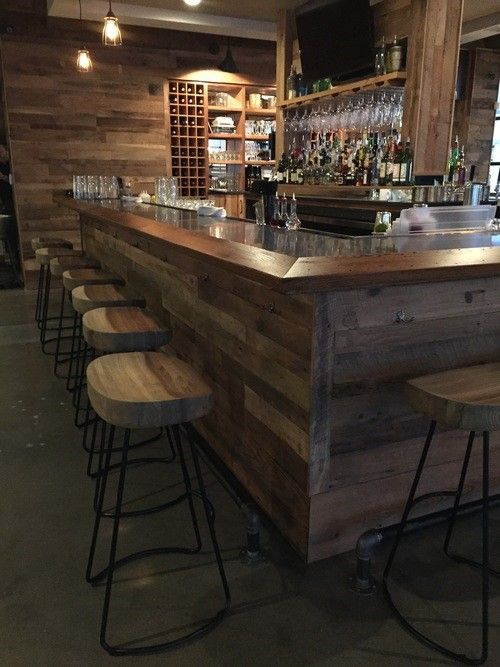 Reclaimed Oak Paneling On Bar, Back Bar U0026 Central Wall. Reclaimed Oak  Counter Edge