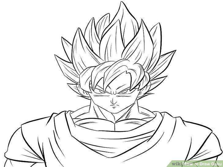 How To Draw Goku Super Saiyan Goku Drawing Goku Art Drawings To Trace