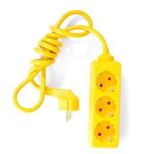 3m Steckdosenleiste - Gelb
