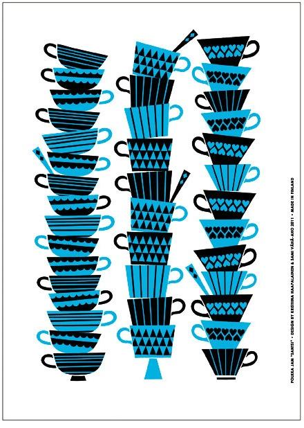 """""""Santsi"""" poster design by Kristiina Haapalainen & Sami Vähä-Aho 2011."""