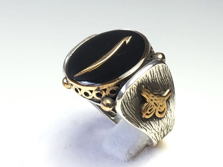 NEW TURKISH HANDMADE OTTOMAN 925k STERLING SILVER BLACK ONYX MEN'S RING Size10.5  | eBay