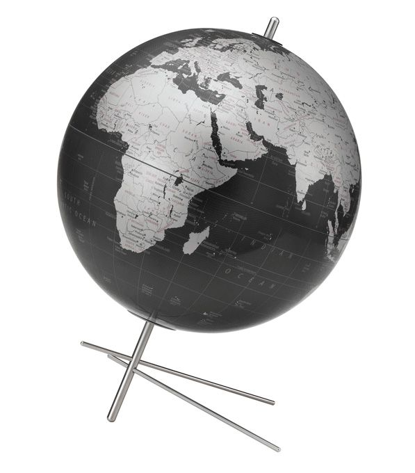 59 best desktop globes images on pinterest world globes desk replogle mikado desktop world globe 12 inch diameter with unique brushed stainless steel base and gumiabroncs Images