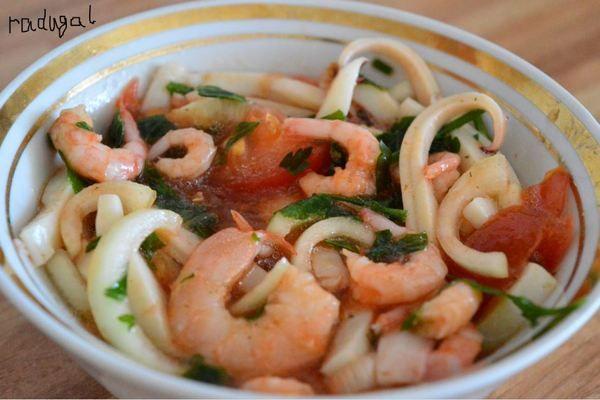 Блюда народов мира. Эквадорская кухня. Севиче из кальмаров с креветками. кухня, блюдо, эквадор, длиннопост, рецепт