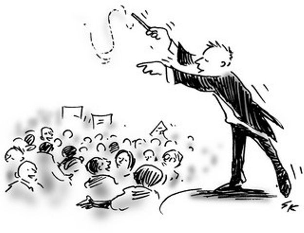 A facilitator brings into harmony all of the rumble of change