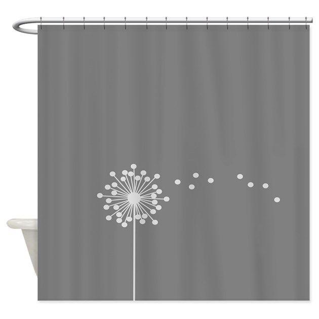 Dandelion Shower Curtain By Fiddlestixx Cafepress Shower Curtain Curtains Gray Shower Curtains