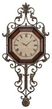 39 in. Wrought Iron Wall Clock traditional-wall-clocks