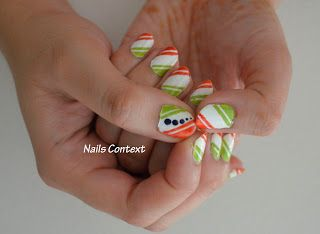 Nails Context: It's Indian Independence Day today. Nails inspired from Indian flag colors