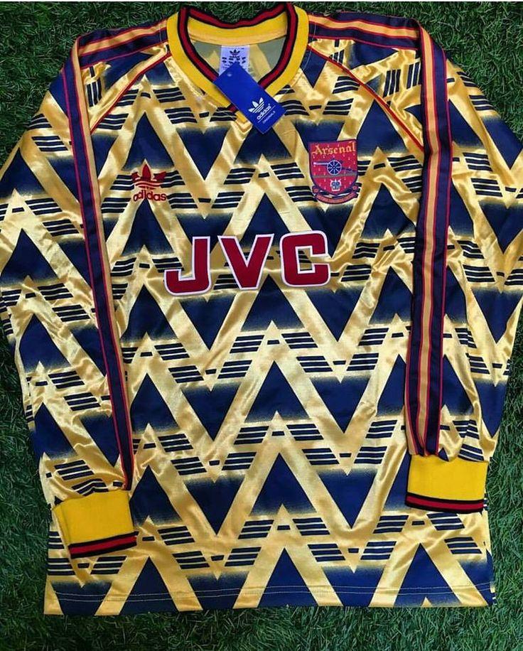 1991/92 Long Sleeve Arsenal Away Shirt