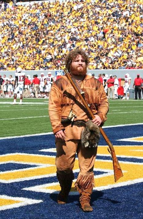 West Virginia Mountaineers mascot The Mountaineer in
