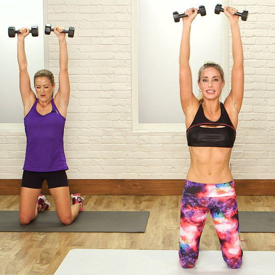 This high-intensity workout is anything but boring - time flies by as you jump, twist, and lift. Celebrity trainer and Barry's Bootcamp instructor Astrid Swan McGuire created a 20-minute scorch session that works every muscle in your body. You will have tons of fun while blasting calories with this workout. All you need is a light set of weights. Press play and get ready to work!
