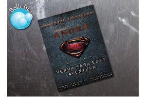 Home de Aço Superman Convite Digital