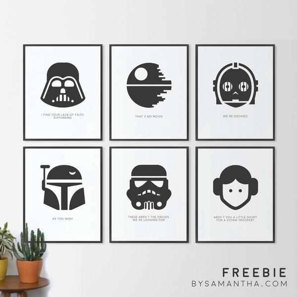 Minimalist Star Wars Printables (Free)