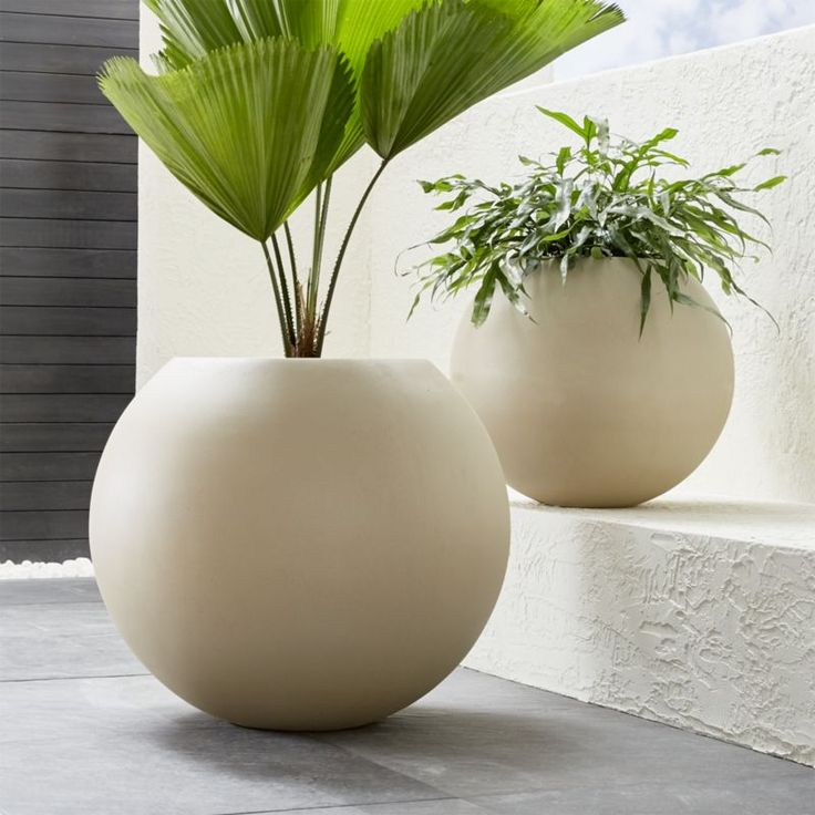 Shop Sand Ball Planters. This earth-conscious large planter is cast from a mix of naturally derived mineral compounds, sea salt, sand and fiber and manufactured with low emissions and minimal energy use.