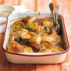 Recepty: Kuře pečené na citronech