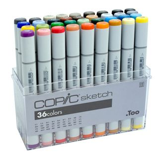 Copic Sketch Marker - Basic Colors - 36 Piece Set