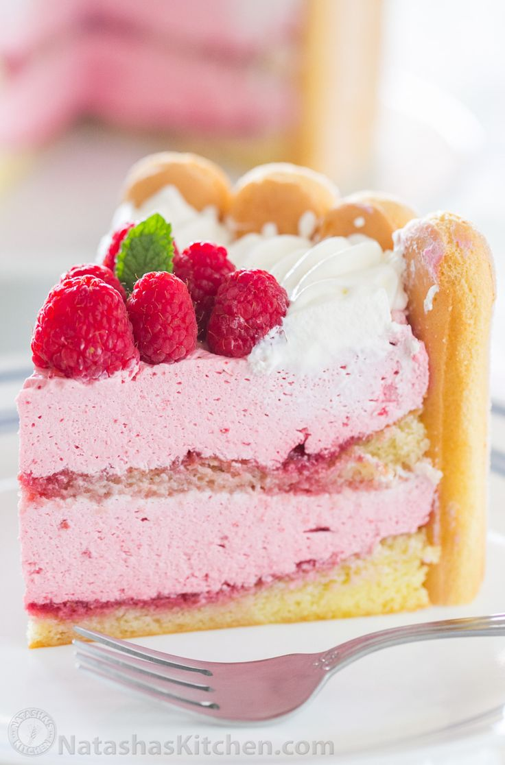 With step-by-step photos, you can master Raspberry Charlotte Russe Cake! A Charlotte Dessert with layers of raspberry mousse, lady fingers and fluffy cake.