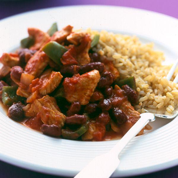 WeightWatchers.fr : recette Weight Watchers - Émincé de dinde façon chili con carne