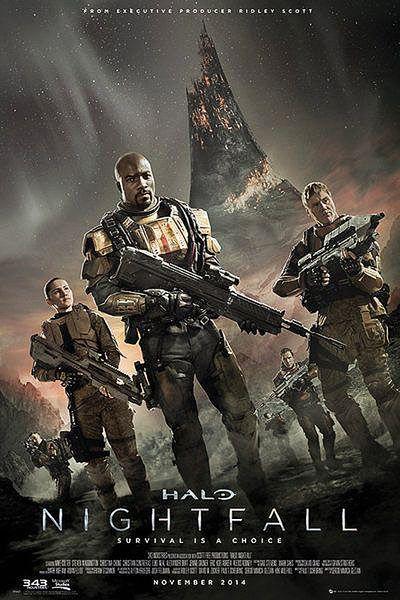 Póster Halo Nighfall Estupendo póster con la imagen de la portada del próximo estreno de Halo Nightfall.