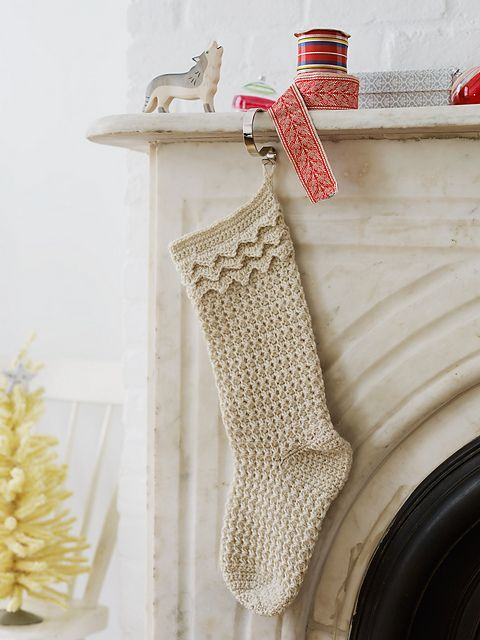 crochet stockings, from 'Christmas Crochet'
