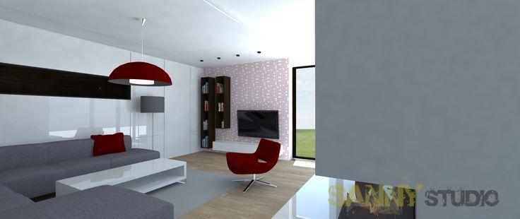 Návrh interiéru spoločenskej časti rodinného domu