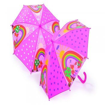 Woodland Animals Pink Colour Changing Umbrella when Wet- Good Quality
