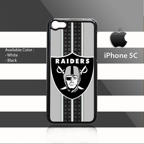Oakland Raiders Pattern Stripes iPhone 5c Rubber Case Cover