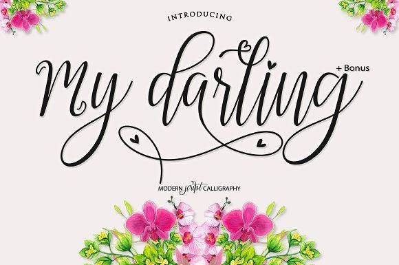 OFF 50% My Darling Script +Bonus by Bexxtype on @creativemarket