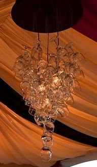 Wine Glass Chandelier #fivestarproductions