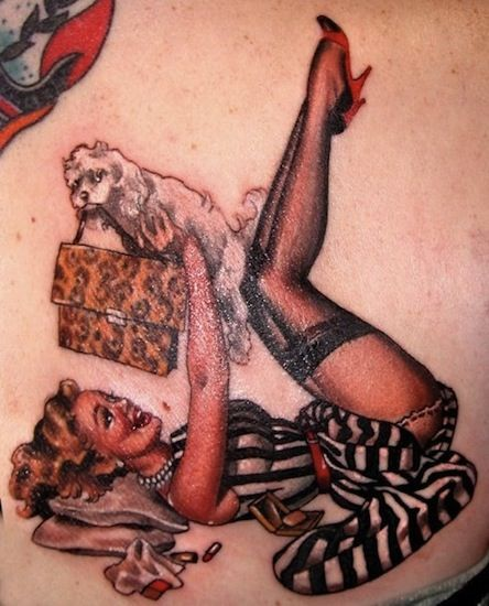 Pin Up Girl By Hannah Aitchison Tattoo Artist – Chicago IL USA