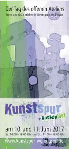 Kunstspur Broschüre 2017 ist online _ Tag des offenen Ateliers in Wennigsen (Region Hannover) 10. und 11. Juni 2017