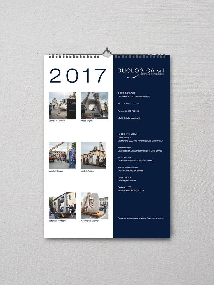 Realizzazione calendario 2017 nel formato da parete per Duologica Srl - Logistica & Distribuzione   #TagCommunication #Marketing #Communication #WebAgency   #GraphicDesign #PhotoShooting