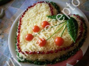 салат из курицы с сыром фото