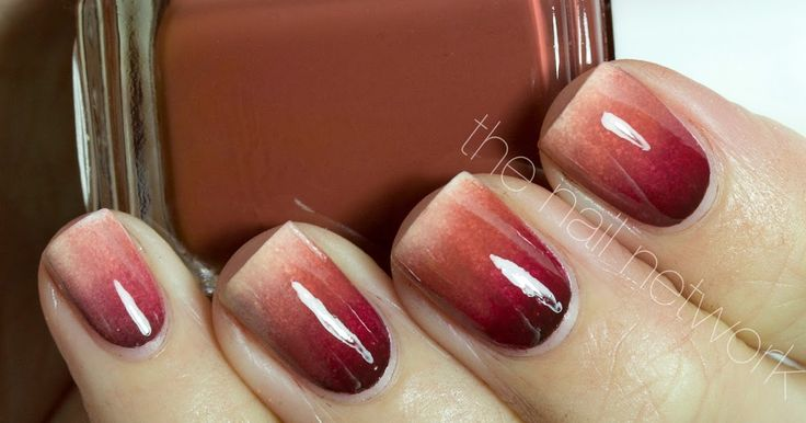 thanksgiving nail art, thanksgiving nails, autumn nail art, gradient nail art