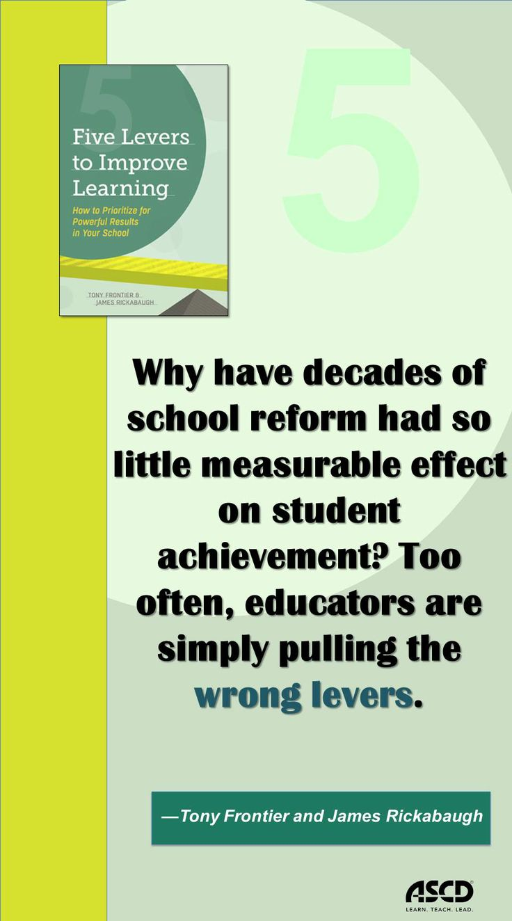 At the heart of this book is a simple message for teachers, administrators, board members, and education policymakers at all levels: the key to success is not doing more work and making more changes, but doing the right work, and making the right changes.